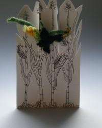 Blackbird on Corn Stalk, Ring